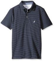 Nautica Slim Fit Short Sleeve Striped Polo Shirt