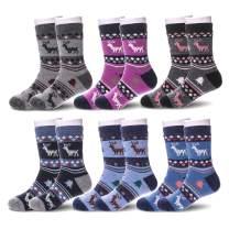 6 Pairs Children's Winter Warm Wool Socks Kids Boys Girls Socks