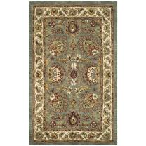 Safavieh Classic Collection CL359B Handmade Traditional Oriental Celadon and Ivory Wool Area Rug (4' x 6')