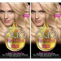 Garnier Olia Ammonia-Free Brilliant Color Oil-Rich Permanent Hair Color, 9.0 Light Blonde (Pack of 2) Blonde Hair Dye
