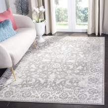 Safavieh Brentwood Collection BNT844B Area Rug, 6' x 9', Cream/Grey