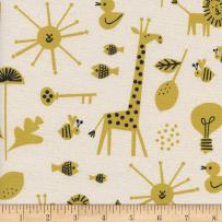Cotton + Steel Natural Christian Robinson Spectacle Sunbeam Fabric by The Yard
