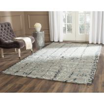 Safavieh Dip Dye Collection DDY711B Handmade Moroccan Geometric Watercolor Grey and Charcoal Wool Area Rug (6' x 9')