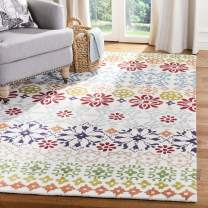Safavieh Wyndham Collection WYD319A Handmade Ivory and Multi Wool Square Area Rug, 7 feet Square (7' Square)