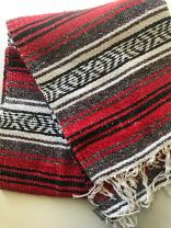 """Mexitems Mexican Falsa Blanket Authentic 52"""" X 72"""" Pick Your Own Color (Red/Grey/Black)"""