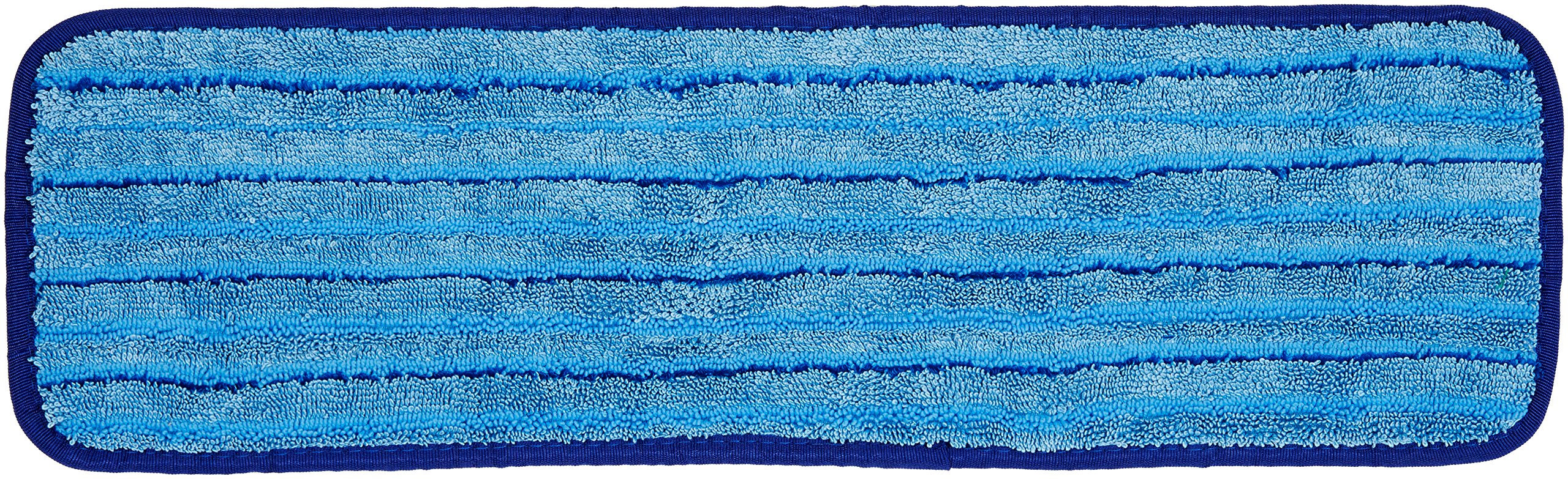 AmazonBasics Microfiber Damp Mop Cleaning Pad with Stripes, 18 Inch, 12-Pack
