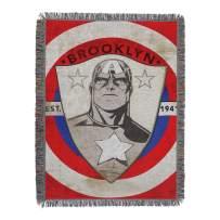 "Marvel's Captain America, ""Established"" Woven Tapestry Throw Blanket, 48"" x 60"", Multi Color"