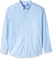 IZOD Men's Big and Tall Saltwater Breeze Plaid Long Sleeve Shirt