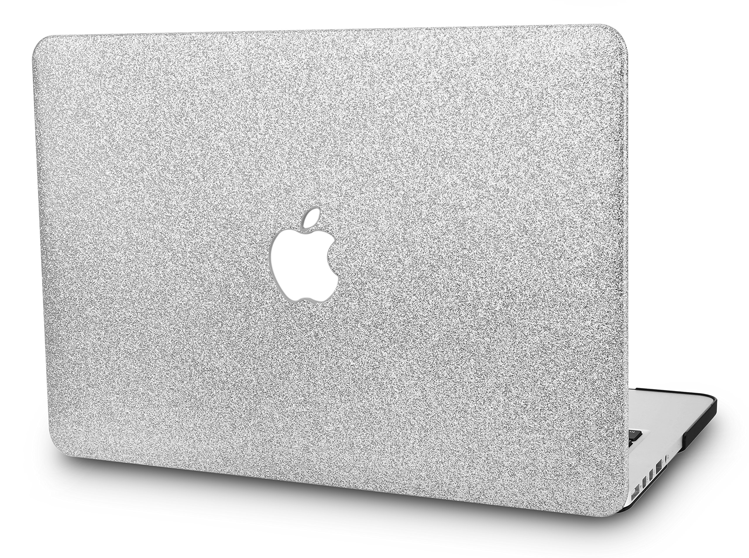 "KECC Laptop Case for MacBook Air 13"" Plastic Case Hard Shell Cover A1466/A1369 (Silver Sparkling)"