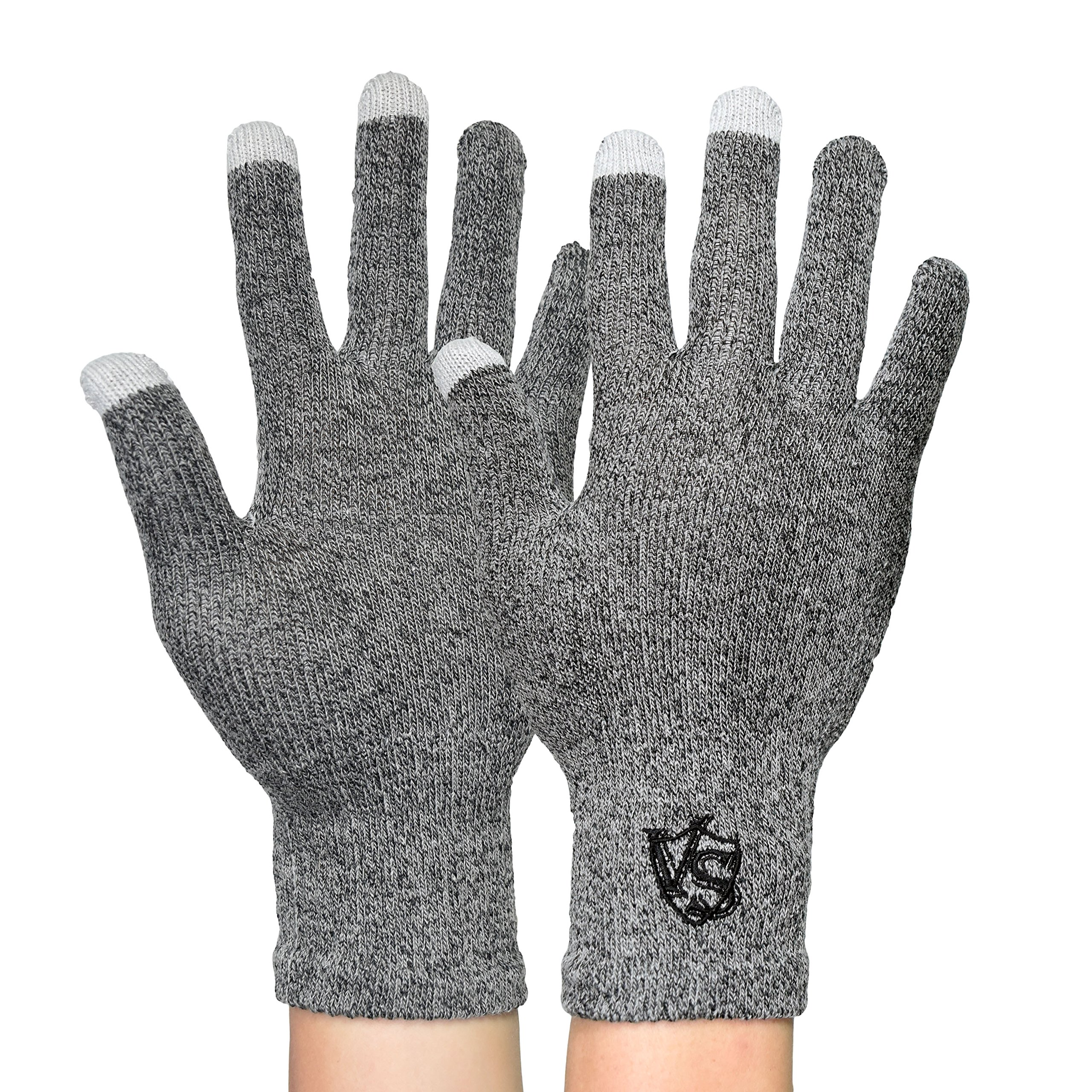 Vital Salveo-Office Stretchy Unisex Recovery Touchscreen, Running, Driving, Texting Gloves for Smartphones (Pair)