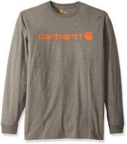 Carhartt Men's Big & Tall Signature Logo Mw Jersey Long Sleeve T Shirt