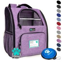 PetAmi Deluxe Pet Carrier Backpack for Small Cats and Dogs, Puppies   Ventilated Design, Two-Sided Entry, Safety Features and Cushion Back Support   for Travel, Hiking, Outdoor Use