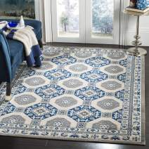 Safavieh Patina Collection PTN320D Blue and Ivory Cotton Area Rug (3' x 5')