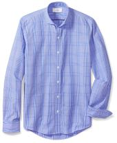Amazon Brand - BUTTONED DOWN Men's Fitted Supima Cotton Dress Casual Shirt (3 Collars Available)