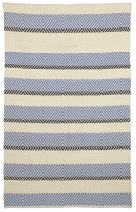 Fab Habitat Reversible Cotton Area Rugs | Rugs for Living Room, Bathroom Rug, Kitchen Rug | Machine Washable | Tranquil - Snow White & Faded Denim | 4' x 6'