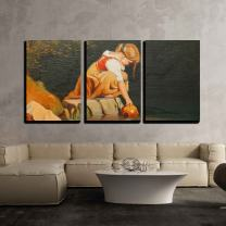 """wall26 - 3 Piece Canvas Wall Art - Beautiful Image of an Original Oil Painting on Canvas - Modern Home Decor Stretched and Framed Ready to Hang - 16""""x24""""x3 Panels"""