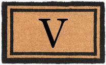 """Nance Industries YourOwn Monogrammed Welcome Mat (Insert Letter Variation), 22"""" x 36"""""""