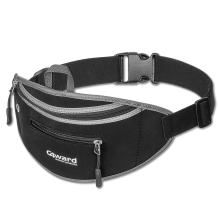 C4wrd Chirpy Super Slim Fanny Pack for Travel, Our Black Money Belt for Men & Women One Size Makes You Happy Keeping Your iPhone Safe & in Easy Reach, Best Waist Pack to Enjoy & Explore The World