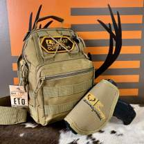 East TN. Outfitters Tactical Sling Bag with Holster Conceal Carry Shoulder Mens Bible Diaper Pack EDC Hunting Fishing Hiking