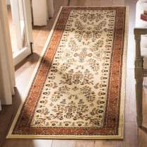 """Safavieh Lyndhurst Collection LNH331R Traditional Oriental Ivory and Rust Runner (2'3"""" x 8')"""