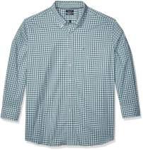 Nautica Men's Big and Tall Navtech Wrinkle-Resistant Long Sleeve Plaid Shirt