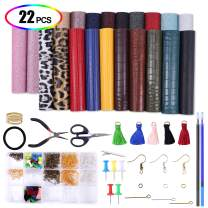Faux-Leather-Sheets, XINFANGXIU PU Leather Fabric Leather-Earring-Making-Kit with Complete DIY Supplies for DIY Making