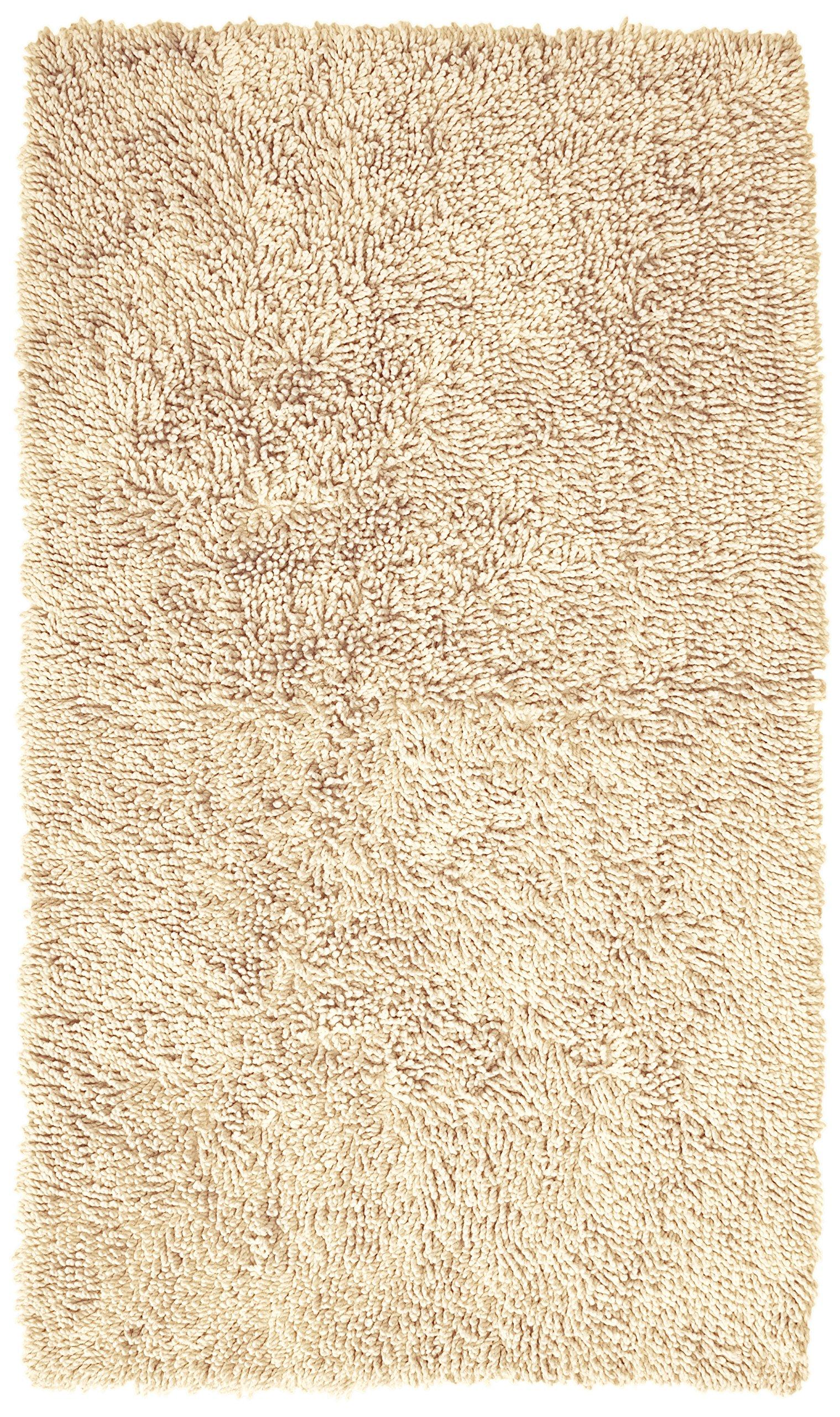 Pinzon Non-Slip Cotton Looped Bathroom Rug - 30 x 50 Inch, Ivory
