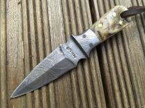 Perkin Handmade Knife - Damascus Steel Hunting Knife - Neck Knife