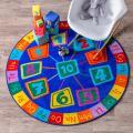 nuLOOM Circles Kids Round Rug, 6' Round, Blue