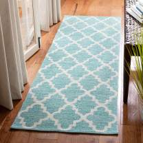 """Safavieh Montauk Collection MTK611Q Teal and Ivory Runner (2'3"""" x 7')"""