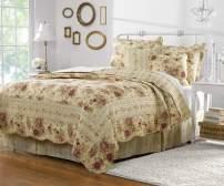 Greenland Home Antique Rose Quilt Set, 5-Piece Full/Queen, Multi