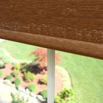 """Best Home Fashion Closeout Premium Single Wood Look Roller Window Shade - Brown - 31"""" W x 64"""" L"""