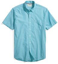 Amazon Brand - Goodthreads Men's Standard-Fit Short-Sleeve Gingham Plaid Poplin Shirt