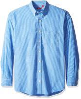 IZOD Men's Big and Tall Button Down Long Sleeve Stretch Performance Plaid Shirt