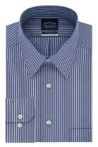 Eagle Men's Non Iron Stretch Collar Regular Fit Stripe Dress Shirt