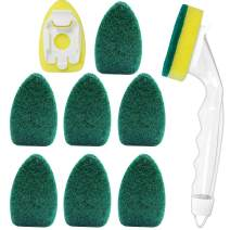 1 Dish Wands with 8 Replaceable Dishwand Refills Sponge Brush Head, Scrubbing Sponges, Perfect for Kitchen, Sink Cleaning and Dishwashing