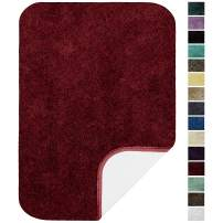 """Maples Rugs ColorSoft Non Slip Washable & Quick Dry Soft Bathroom Rugs [Made in USA], 20"""" x 34"""", Crimson Victory"""