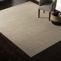 Amazon Brand – Rivet Woven Bordered Sisal Area Rug, 8 x 10 Foot, Charcoal