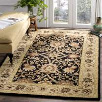 Safavieh Antiquities Collection AT249B Handmade Traditional Oriental Black Wool Area Rug (4' x 6')
