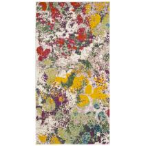 """Safavieh Water Color Collection WTC696E Light Green and Rose Runner, 2'2"""" x 8'"""