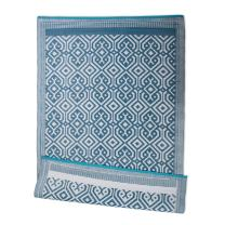 DII Contemporary Indoor/Outdoor Lightweight Reversible Fade Resistant Area Rug, Great For Patio, Deck, Backyard, Picnic, Beach, Camping, & BBQ, 4 x 6', Blue Morrocan
