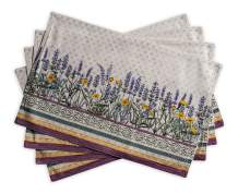 Maison d' Hermine Fanny Lavender 100% Cotton Set of 4 Placemats for Dining Table | Kitchen | Wedding | Everyday Use | Dinner Parties | Spring/Summer (13 Inch by 19 Inch)