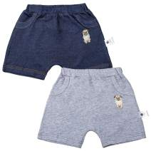 COTTON FAIRY Baby Boys' Shorts 2-Pack Pull-On Pants