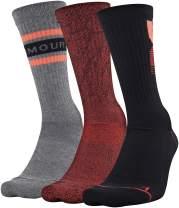 Under Armour Men's Phenom Graphic Crew Socks, 3-Pairs