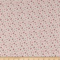 Santee Print Works Vintage Miniatures Flowers Fabric, Pink/Green, Fabric By The Yard