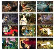 The Women of Waterhouse Postcards (36-Pack)-Cool Unique Educational Postcards – Premium Stocking Stuffers Gifts for Men, Women, Adults, Teens