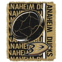"""Officially Licensed NHL """"Double Play"""" Jacquard Throw Blanket, 48"""" x 60"""""""