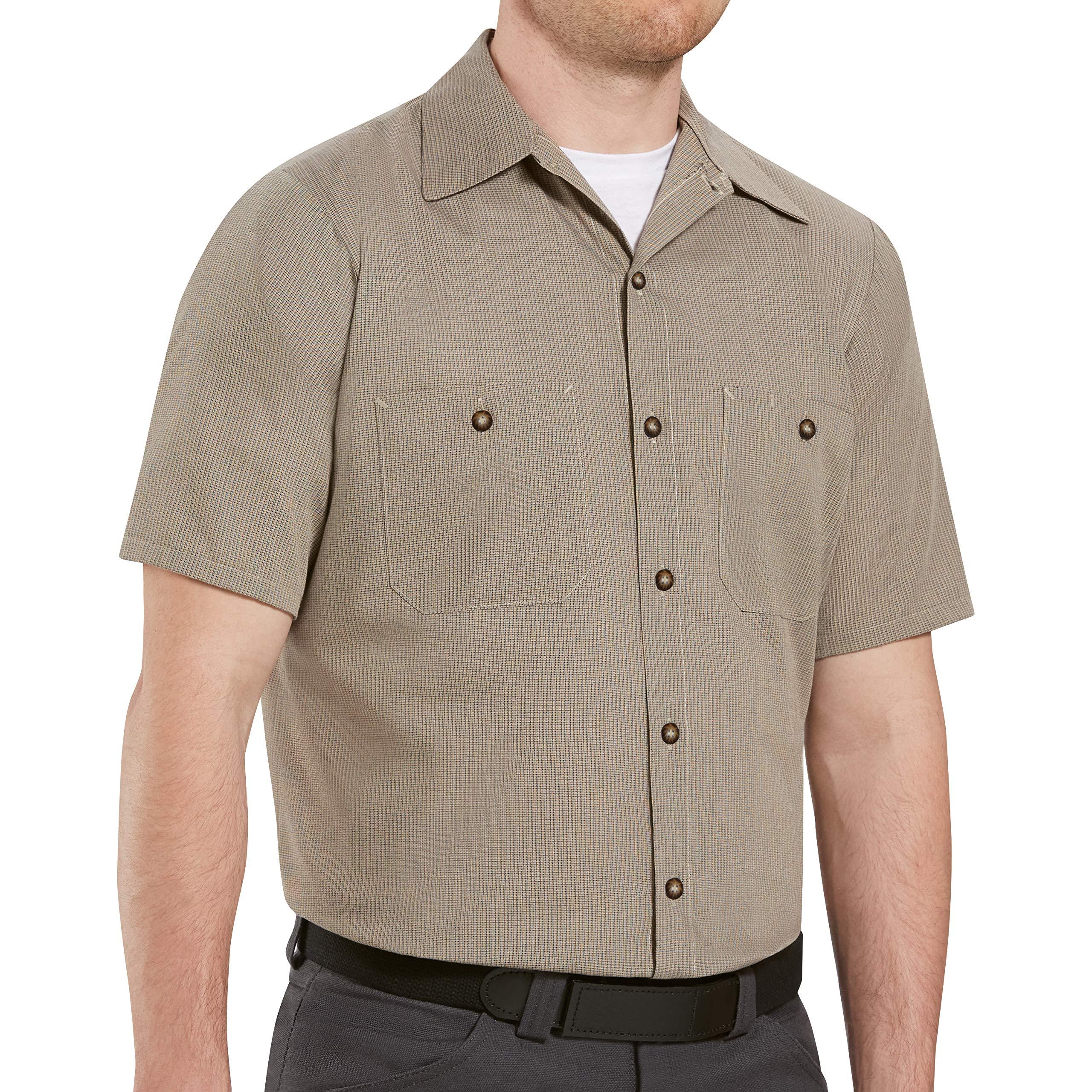Red Kap Men's Motorsports Shirt, Short Sleeve