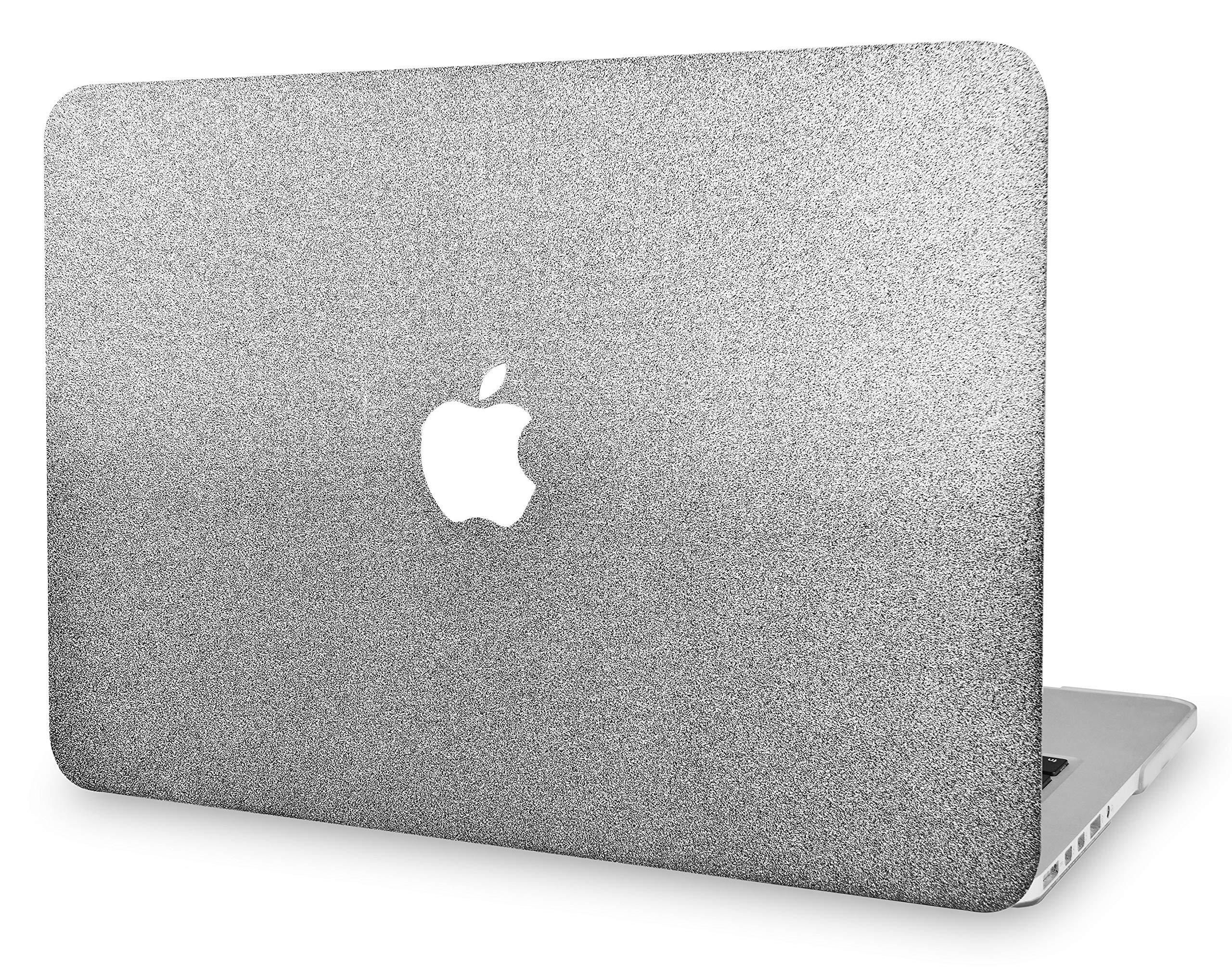 """KECC Laptop Case for Old MacBook Pro 13"""" Retina (-2015) Plastic Hard Shell Cover A1502 / A1425 (Silver Grey Sparkling)"""