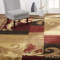 """Home Dynamix Catalina Pierre Contemporary Modern Area Rug 5'3""""x7'2"""" Geometric Brown Red Beige"""
